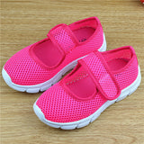 Multi-colored  sneakers girls sandals students candy color girls Mesh hollow flat sneakers Boys and kids sandals
