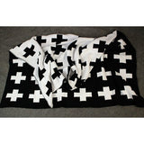 Cross Knitted Plaid For Bed Sofa