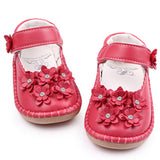 High Quality Beautiful Leather Flower Shallow Baby Girl Princess Shoes 1-3 Years
