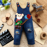 9M-24M Baby Girl Clothes Bebe Boy Overalls Hello Kitty Long Pants Cartoon Kwaii Jumpsuit Denim Jeans Rompers Toddler Clothing