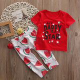 2pcs suit !!!  Toddler Kids Baby Boy Girl Clothes short sleeve T Shirt+Long Pants Outfits Clothing Set