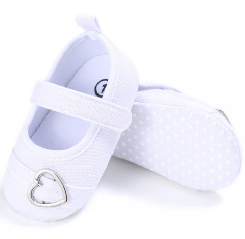New Brand 2017 Baby Boy Girl Shoes First Walkers Toddler Infant Love Heart Soft Crib Shoes Princess Footwear Shoe 0-18M