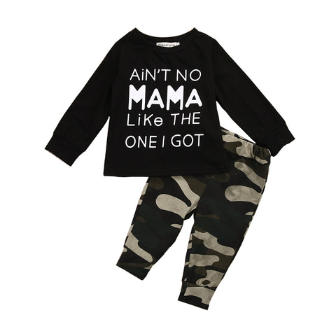 Newborn Autumn Spring Camouflage Clothing Set Baby Boys Toddler Casual Tops +Long Pants Outfits Set Clothes