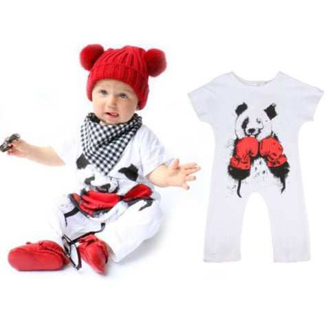 Newborn Toddler Baby Boys Jumpsuit Bear Romper Playsuit Infant Cartoon Clothes Outfits