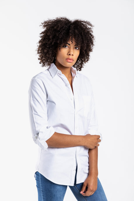 GIRLFRIEND SHIRT WHTE OXFORD