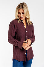 GIRLFRIEND SHIRT MULBERRY LINEN