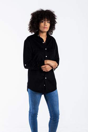 GIRLFRIEND SHIRT BLACK BABY CORD