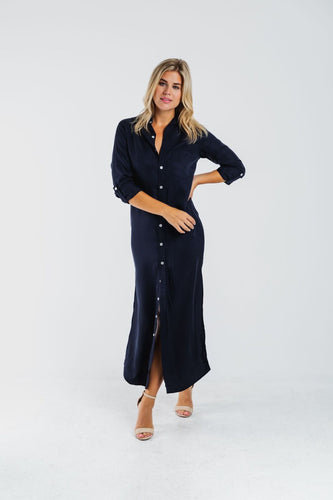 GIRLFRIEND MAXI DRESS NAVY