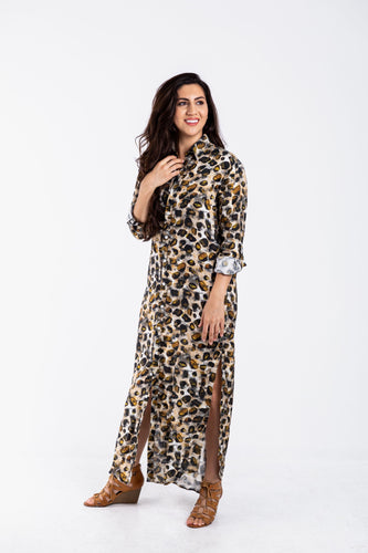 GIRLFRIEND MAXI CHEETAH LINEN