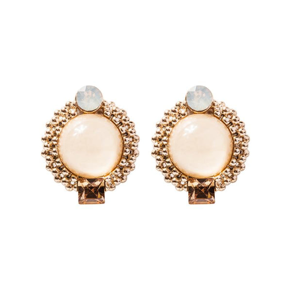 FC Swarovski Crystal Earring - Warm Gold