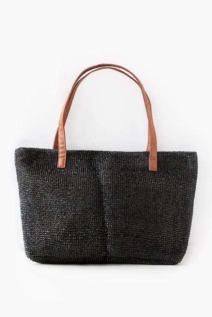 AT Recycled Plastic Tote - Black Rattan