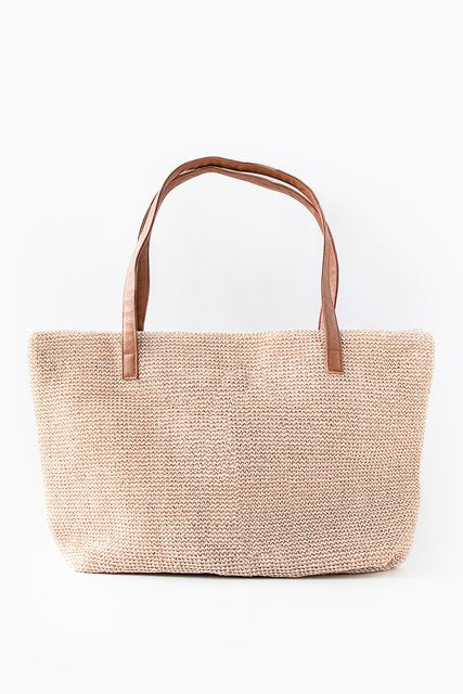 AT Recycled Plastic Tote - Blush Rattan