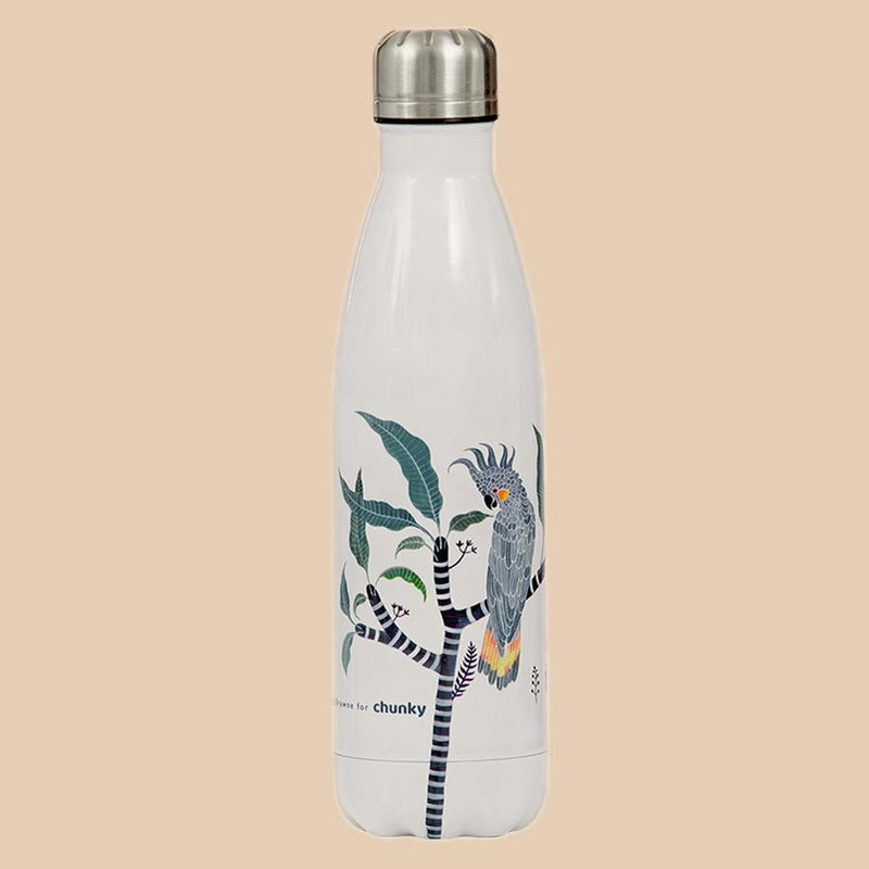 CY Stainless Drink Bottle 500ml - Cheeky Cockatoo