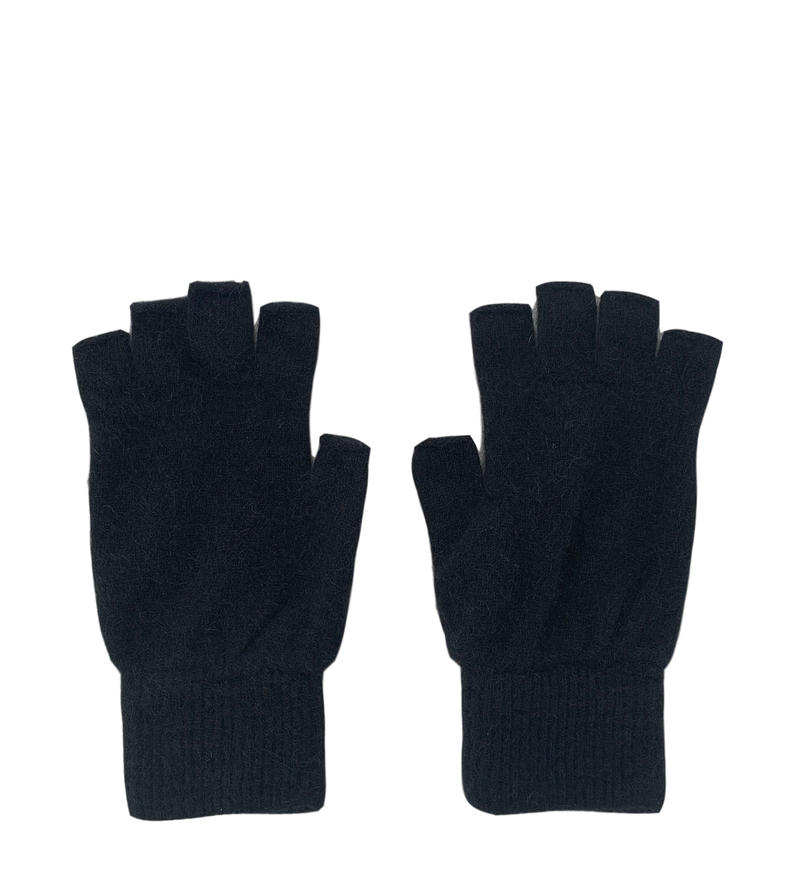 Possum Fingerless Gloves - Black