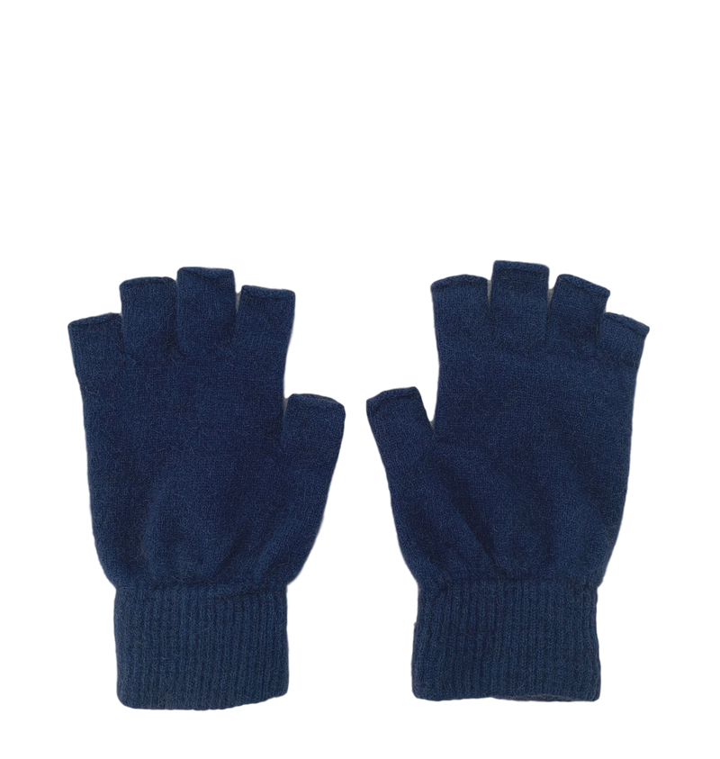 Possum Merino Fingerless Gloves - Ocean