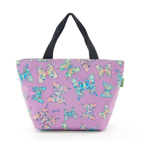 Eco Chic Lunch Cooler Bag - Lilac Butterfly