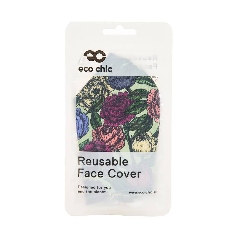 EC Reusable Face Mask - Green Peonies