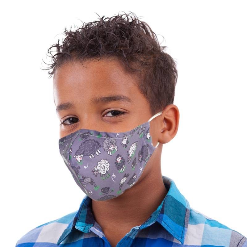 EC Reusable Face Mask Kids - Grey Sheep