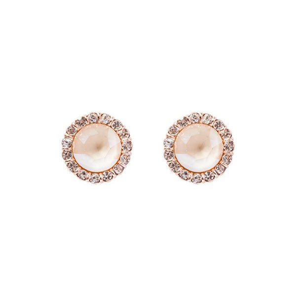 FC Swarovski Crystal Stud Earrings - Ivory