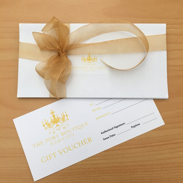 The Port Boutique Gift Voucher - $25 Voucher