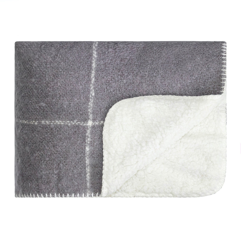 LM Soft Sherpa Knee Rug - Frost Grey