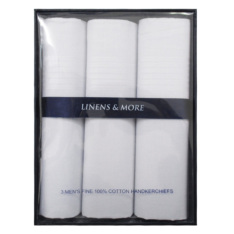 LM Boxed Set Handkerchiefs 3pk - White