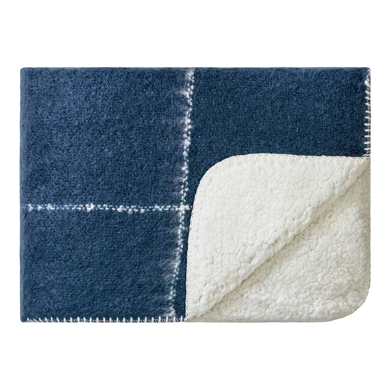 LM Soft Sherpa Knee Rug - Midnight Blue