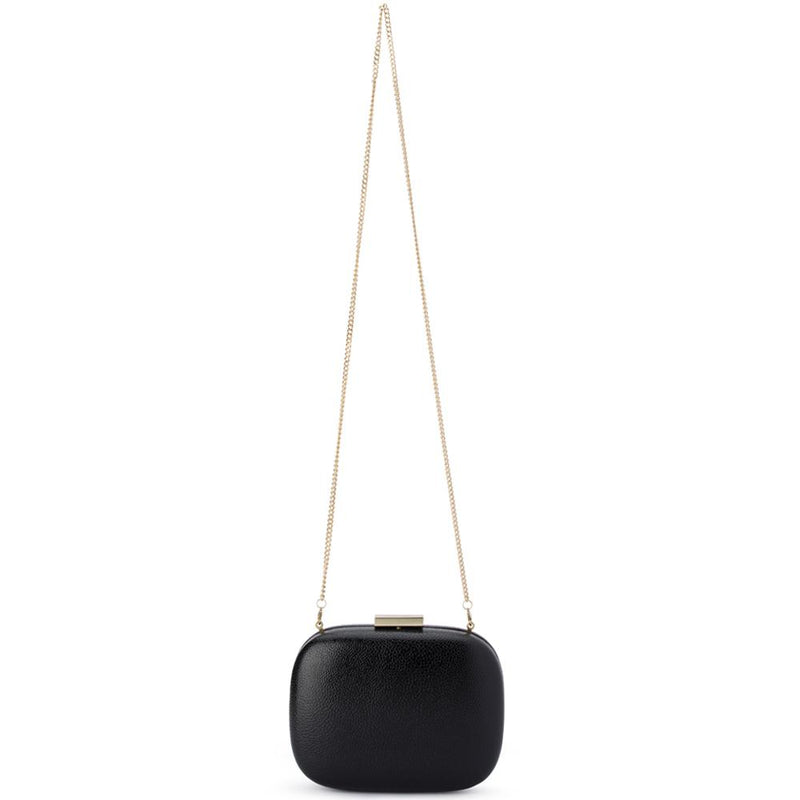 Olga Berg Malia Pebbled Clutch - Black