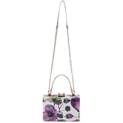 Olga Berg Alice Floral Top Handle Bag - Lilac