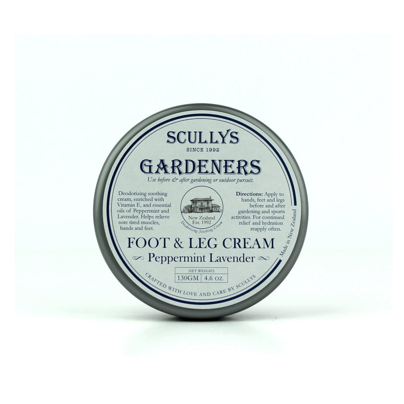 Scully's Gardeners Foot & Leg Cream 130gm - Lavender & Peppermint