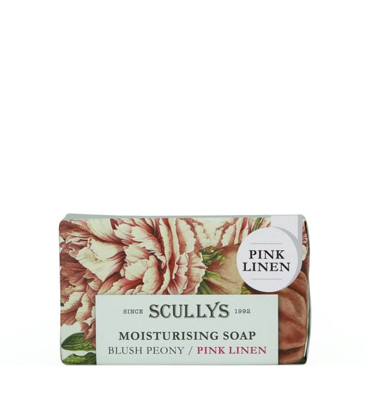 Scully's Luxury Soap 150gm - Blush Peony Pink Linen