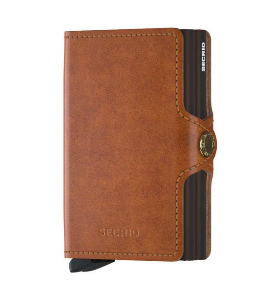 Secrid Twinwallet - Cognac + Brown