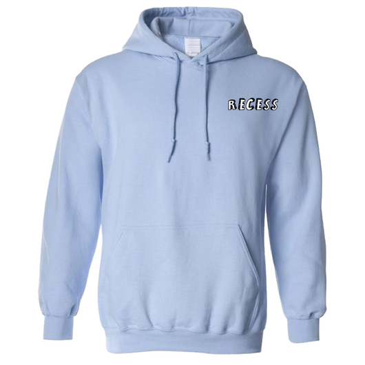 Embroidered Light Blue Recess Hoodie