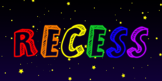 Nighttime Recess Sticker