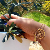 Dreamcatcher Bracelet-24k Gold Plated