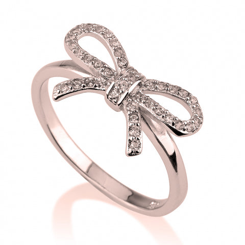 adjustable gold rhinestone ring rings bow