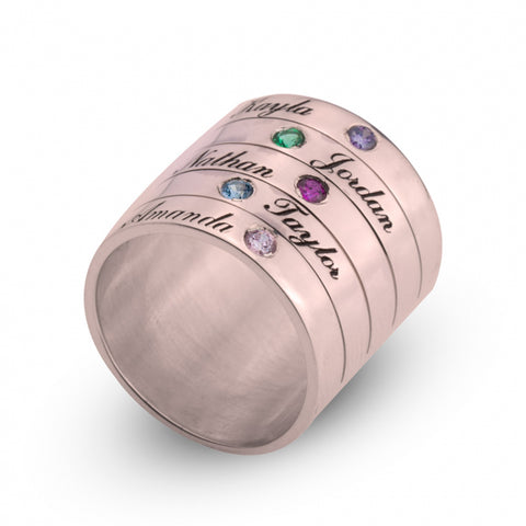 Georgie's Jewelry stackable birthstone ring in rose gold