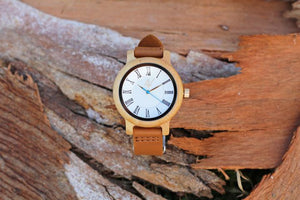"Awoken Vibes ""Her Roman Classic"" Leather Band Watch"