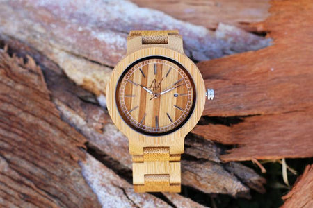 "Awoken Vibes ""Simply Wood"" Wooden Watch"