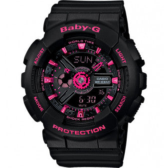 Casio Baby-G Analogue/Digital Ladies Black/Pink Watch