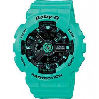 Casio Baby-G Analogue/Digital Ladies Black/Green Watch