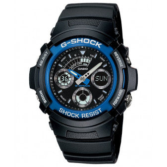 Casio G-Shock Analogue/Digital Men's Black/Blue Watch