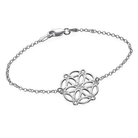 Circle of Life Mandala Bracelet - Sterling Silver