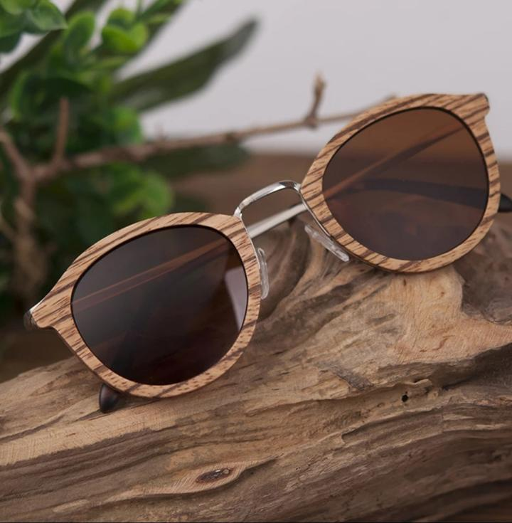 """Old School"" Wooden Sunglasses"