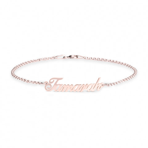 Personalised Name Bracelet -Rose Gold Plated