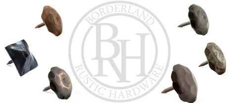 Borderland Rustic Hardware Clavos and Metal Finishes | Rusted, Sealed, Unfinished, Black, Bronze, Speckled, Wavy 2021 Made in the US. Best Metal and DIY Products forge in the United States