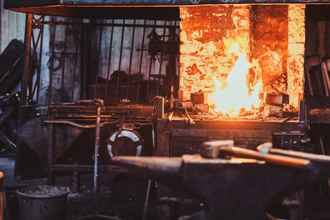 Iron Forge Melting Hot Fire At Borderland Rustic Hardware for Forging Metal, Steel, and Iron, How to and the process in 2021 Metal Blacksmithing.jpg