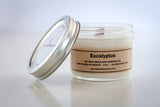 soy candle eucalyptus essential oil and wood wick 8oz jar