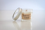 organic soy candle wood wick peppermint essential oil 4oz jar