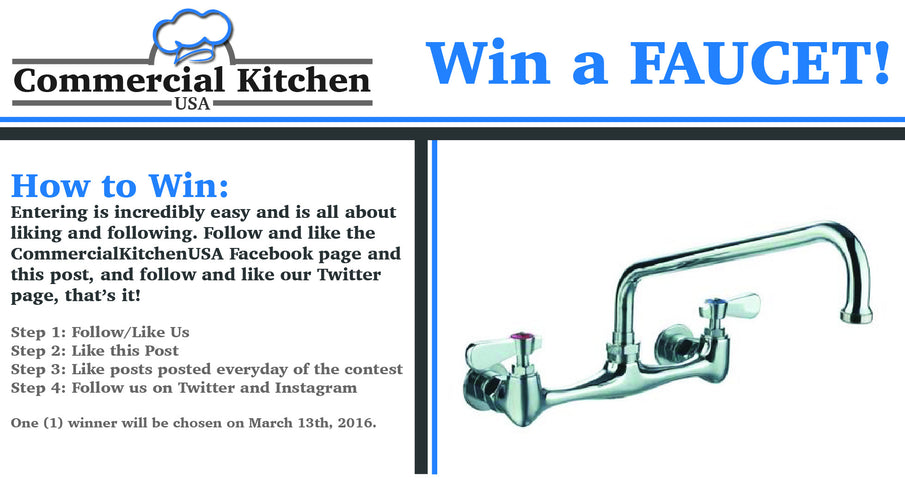Why giveaways are important and your chance to WIN a Faucet!